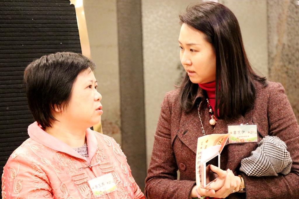 上海總會總幹事婁芝伊小姐親切問侯