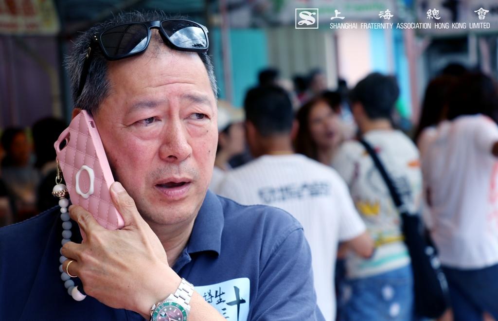 朱嘉楨副理事長接過上海總會總幹事的電話後,活動正式開始