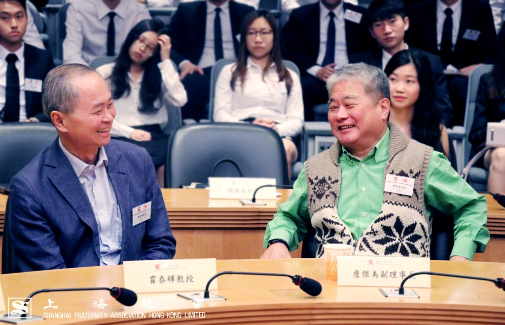 霍泰輝教授與詹傑美副理事長交談甚歡。