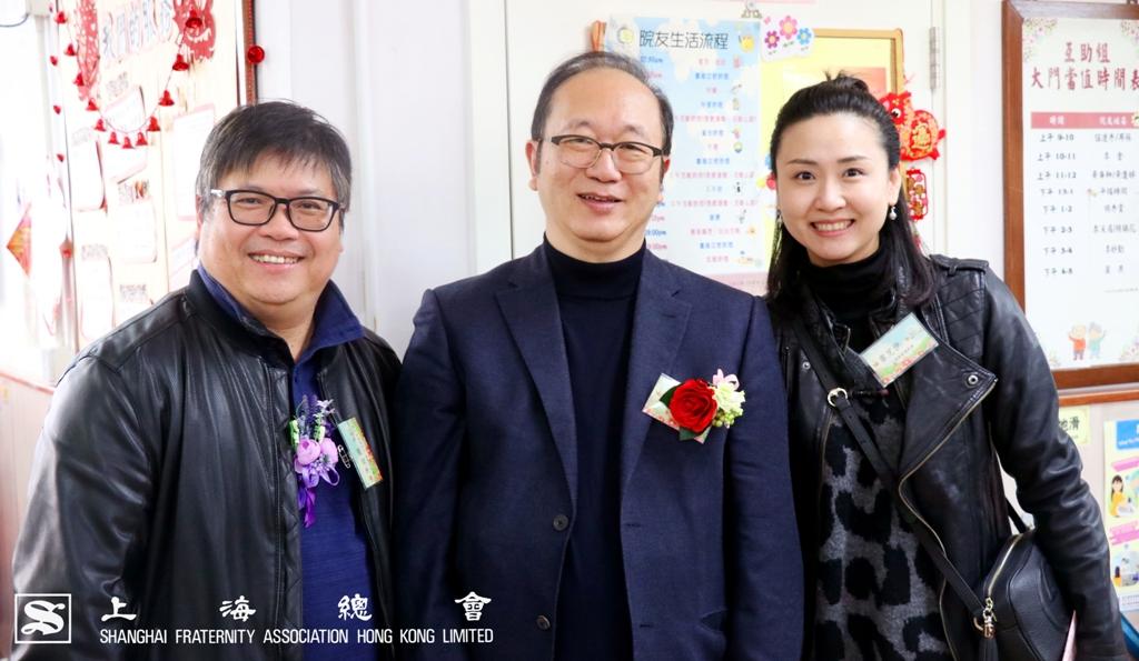 活動正式開始前,( 左起 )李蔭國安老服務部主管、王緒亮監事長、婁芝伊總幹事一同合照。