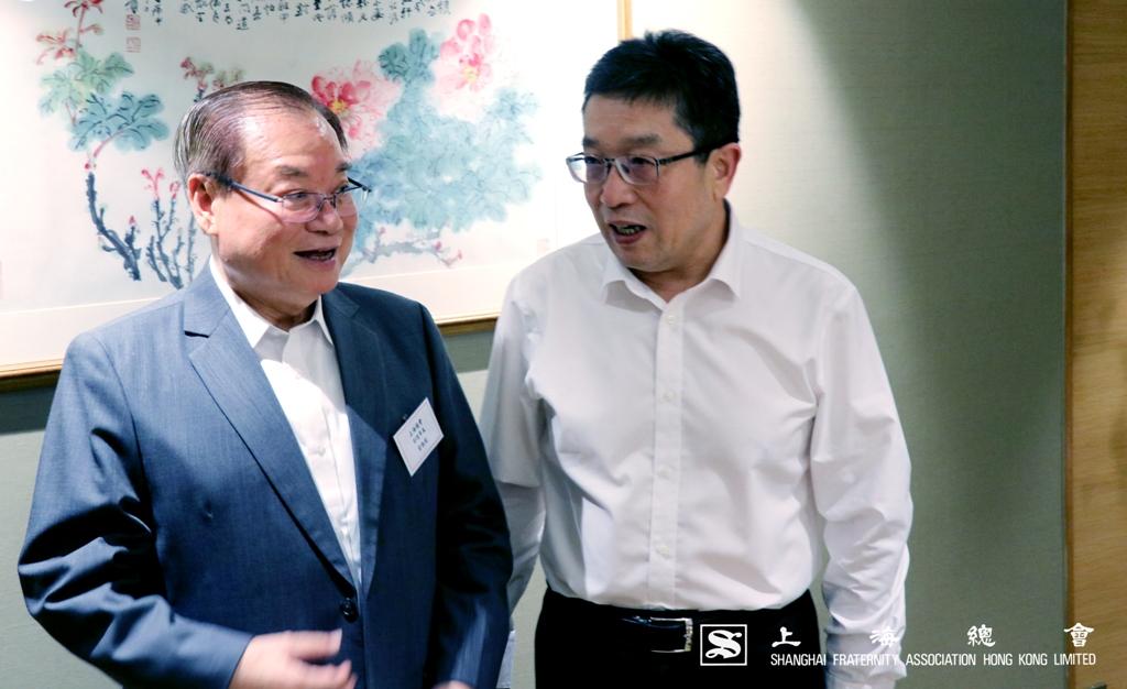 雷振範副理事長與鄭部長對話內容滔滔不絕