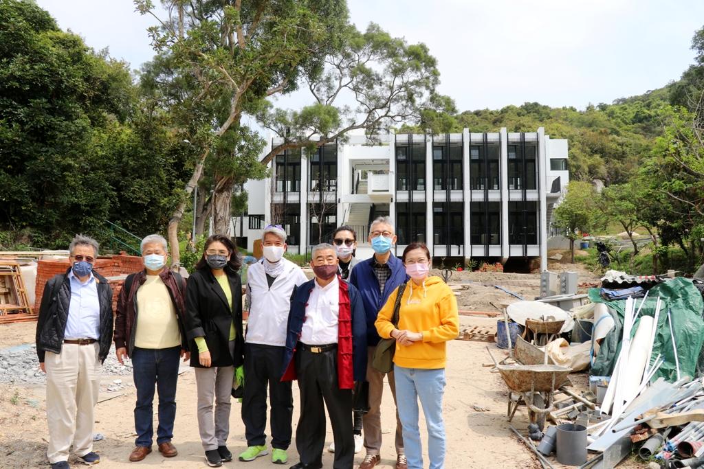 上海總會參觀新落成備用之校舍。
