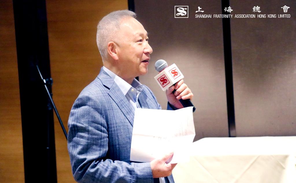 李德麟理事長表述「家在香江」計劃的成立目的及將近 20 年的服務,一直也與中文大學有着緊密的合作。