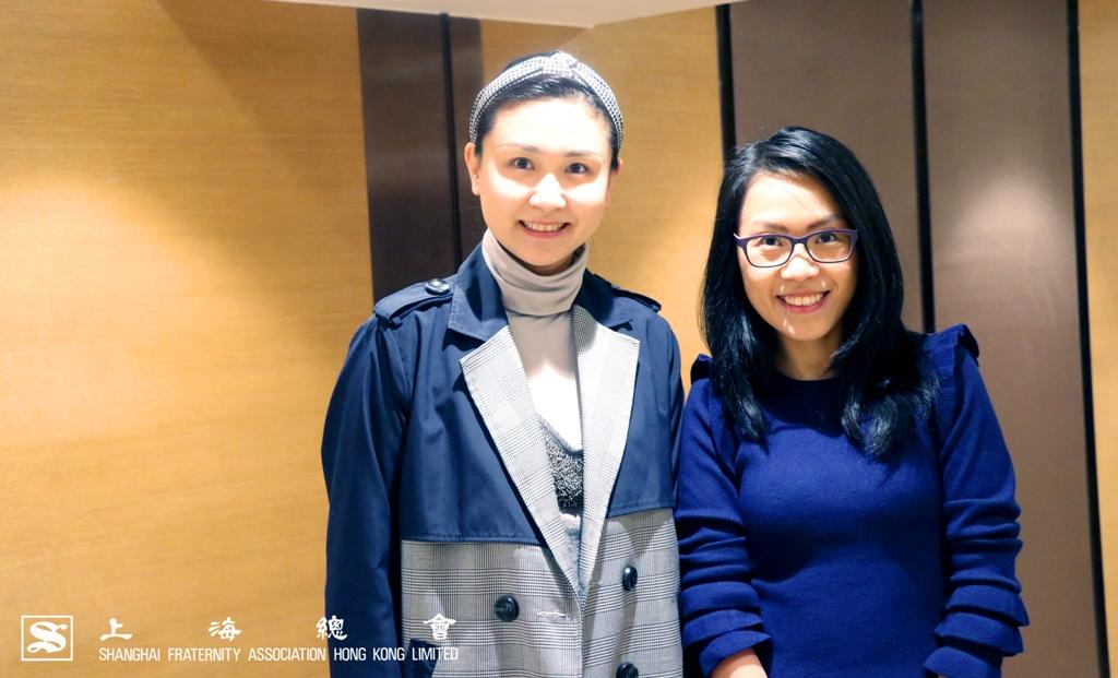 上海總會總幹事與香港中文大學拓展及籌募處黃詠茵助理處長於活動上合照。