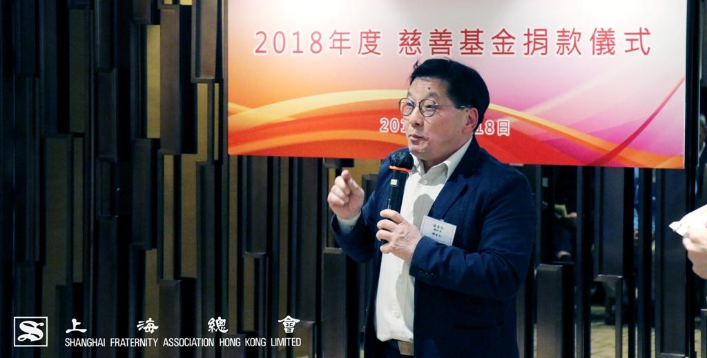 協青社總幹事謝貞元先生於儀式中為大家進行分享。