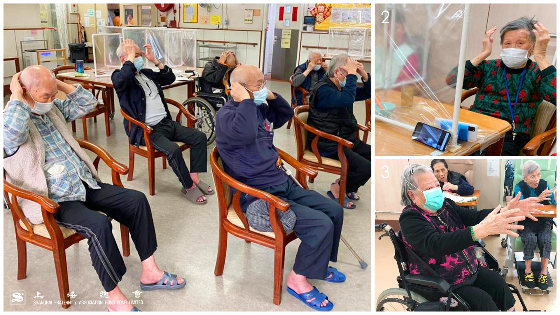 鄰舍輔導會上海總會護理安老院學習「坐式八段錦」,反應熱烈。