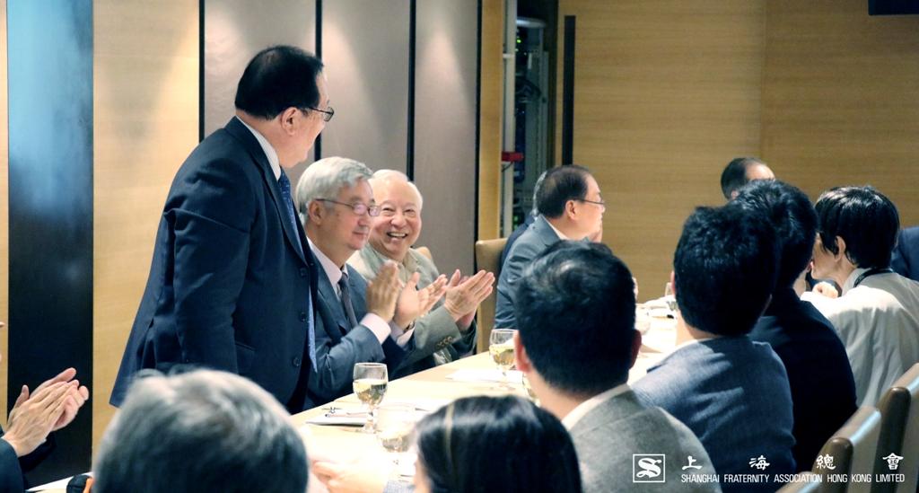 上海總會理監事會祝賀張浩然先生出任香港蘇浙滬同鄉會主席。
