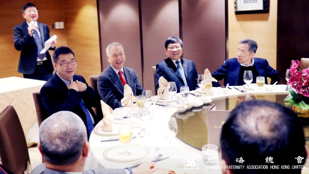 「浙江大學教育基金會-香港上海總會浚生助學金捐贈儀式」完成後,晚宴隨即開始,大家氣氛融洽。